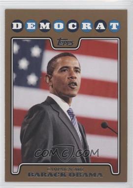 2008 Topps Campaign 2008 Gold #C08-BO - barrack obama