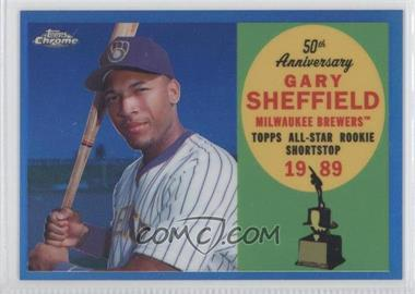 2008 Topps Chrome - Topps All-Rookie Team - Blue Refractor #ARC1 - Gary Sheffield /200
