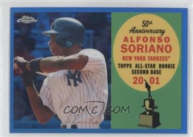 2008 Topps Chrome Topps All-Rookie Team Blue Refractor #ARC8 - Alfonso Soriano /200