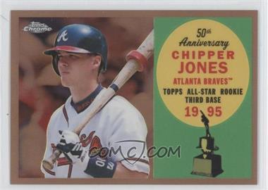 2008 Topps Chrome Topps All-Rookie Team Copper Refractor #ARC5 - Chipper Jones /100