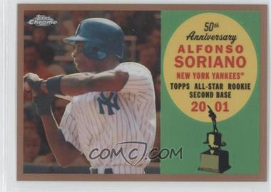2008 Topps Chrome Topps All-Rookie Team Copper Refractor #ARC8 - Alfonso Soriano /100