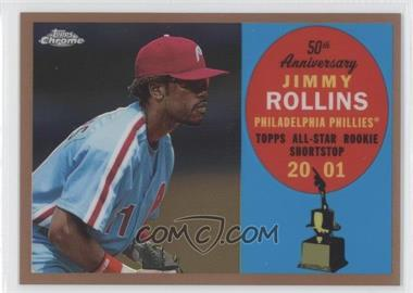 2008 Topps Chrome Topps All-Rookie Team Copper Refractor #ARC9 - Jimmy Rollins /100
