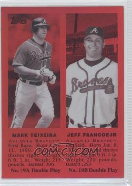 2008 Topps Chrome Trading Card History Red Refractor #TCHC16 - Mark Teixeira, Jeff Francoeur /25
