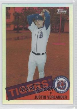 2008 Topps Chrome Trading Card History Red Refractor #TCHC26 - Justin Verlander /25