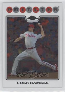 2008 Topps Chrome #10 - Cole Hamels