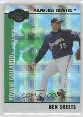 2008 Topps Co-Signers - [Base] - Hyper Plaid Green #74 - Yovani Gallardo, Ben Sheets /25