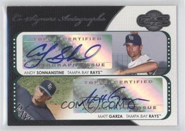 2008 Topps Co-Signers - Co-Signers Autographs #CS-SG - Andy Sonnanstine, Matt Garza