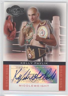 2008 Topps Co-Signers Boxer Solo Sigs #SS-KP - Kelly Pavlik