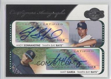 2008 Topps Co-Signers Co-Signers Autographs #CS-SG - Andy Sonnanstine, Matt Garza