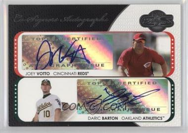 2008 Topps Co-Signers Co-Signers Autographs #CS-VC - Joey Votto, Daric Barton