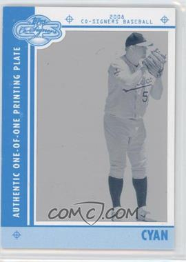 2008 Topps Co-Signers Framed Printing Plate Cyan #91 - Joe Blanton /1