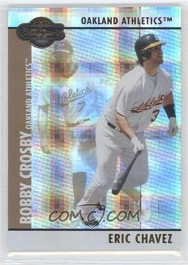 2008 Topps Co-Signers Hyper Plaid Gold #088 - Eric Chavez /10