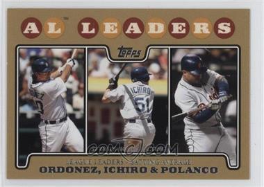 2008 Topps Gold Border #15 - Magglio Ordonez, Ichiro Suzuki, Placido Polanco /2008