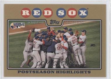 2008 Topps Gold Border #234 - Boston Red Sox Team /2008