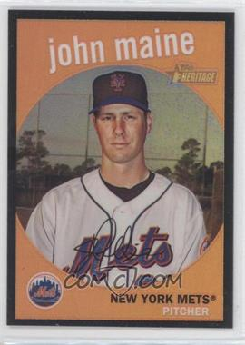 2008 Topps Heritage Chrome Black Border Refractor #C84 - John Maine /59