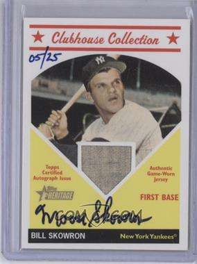 2008 Topps Heritage Clubhouse Collection Autograph Relics #CCABS - Moose Skowron /25