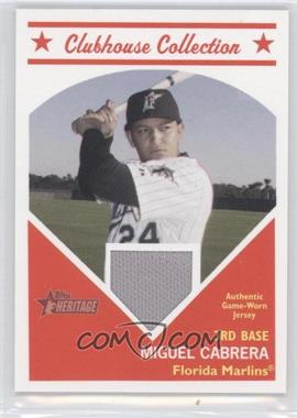 2008 Topps Heritage Clubhouse Collection Relic #CCMC - Miguel Cabrera