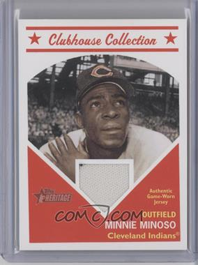 2008 Topps Heritage Clubhouse Collection Relic #CCMIMI - Minnie Minoso