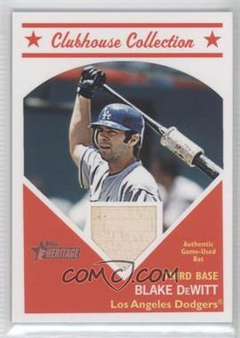 2008 Topps Heritage Clubhouse Collection Relic #HCCBD - Blake DeWitt