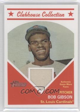 2008 Topps Heritage Clubhouse Collection Relic #HCCBG - Bob Gibson