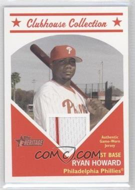 2008 Topps Heritage Clubhouse Collection Relic #HCCRH - Ryan Howard
