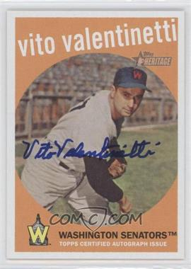 2008 Topps Heritage Real One Certified Autographs [Autographed] #ROA-VV - Vito Valentinetti