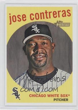 2008 Topps Heritage #475 - Jose Contreras