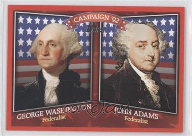 2008 Topps Historical Campaign Match-Ups #HCM-1792 - George Washington, John Adams