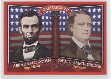 2008 Topps Historical Campaign Match-Ups #HCM-1860 - Abraham Lincoln, John C. Breckinridge