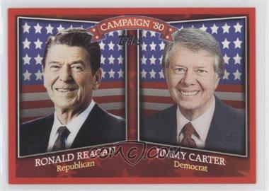2008 Topps Historical Campaign Match-Ups #HCM-1980 - Ronald Reagan, Jimmy Carter