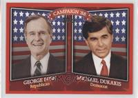 George Bush, Michael Dukakis