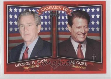 2008 Topps Historical Campaign Match-Ups #HCM-2000 - George W. Bush, Al Gore