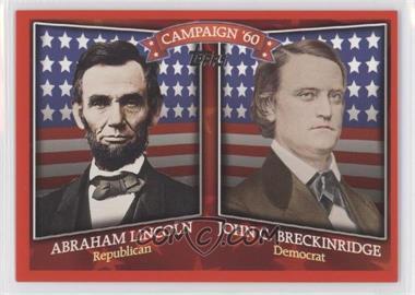 2008 Topps Historical Capaign Match-Ups #HCM-1860 - Abraham Lincoln, John C. Breckinridge