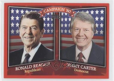2008 Topps Historical Capaign Match-Ups #HCM-1980 - Ronald Reagan, Jimmy Carter