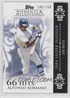 Alfonso Soriano (2004 Silver Slugger - 170 Hits) /150