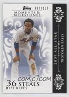 Jose Reyes (2007 All-Star - 78 Stolen Bases) /150