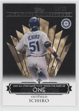 2008 Topps Moments & Milestones Black #1-1 - Ichiro Suzuki (2007 All-Star Game MVP - Inside the Park HR) /25