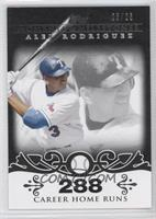 Alex Rodriguez 2007 - 500 Career Home Runs (518 Total) /25