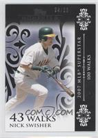 Nick Swisher (2007 MLB Superstar - 100 Walks) /25