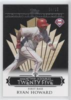 Ryan Howard (2006 NL MVP - 25 Doubles) /25