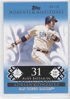 Adrian Gonzalez (2007 MLB Superstar - 100 RBIs) /10