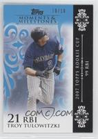 Troy Tulowitzki 2007 Topps Rookie Cup - 99 RBIs /10