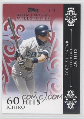2008 Topps Moments & Milestones Red #63-60 - Ichiro (2007 All-Star - 238 Hits) /1