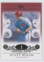 Scott Rolen (1997 NL ROY - 21 HRs) /1