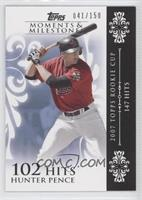 Hunter Pence (2007 Topps Rookie Cup - 147 Hits) /150