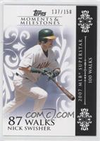 Nick Swisher (2007 MLB Superstar - 100 Walks) /150
