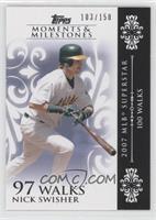Nick Swisher (2007 MLB Superstar - 100 Walks) /150