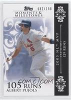 Albert Pujols (2005 NL MVP - 129 Runs) /150