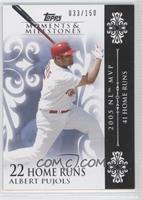 Albert Pujols (2005 NL MVP - 41 Home Runs) /150
