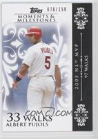 Albert Pujols 2005 NL MVP - 97 Walks /150